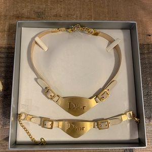 RARE Vintage Dior Necklace and Bracelet Set